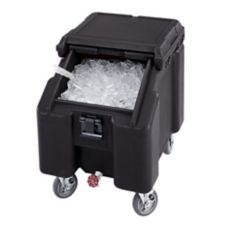 Cambro Standard Height SlidingLid Ice Caddy, Black, 100 lbs