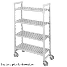 Cambro Camshelving® Gray Vented 4-Shelf Mobile Starter Kit