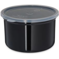 Carlisle® 34303 Poly-Tuf™ 1.5 Qt. Black Crock with Lid