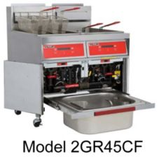 Vulcan Hart S/S Gas Three Fryers with KleenScreen®