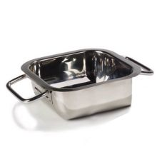 "Carlisle® 609084 10"" Stainless Steel Square Display Dish"