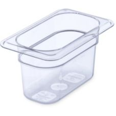 Carlisle® 1032107 1/9-Size Clear Food Pan