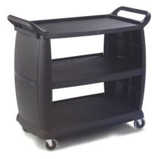 Carlisle Large Bussing and Transport Cart, Black
