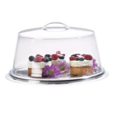 """Cal-Mil 312-10 Clear 10"""" Cover for Pedestal Server"""