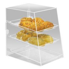 Cal-Mil 260 Slant Front Clear Acrylic 3 Shelf Display Case