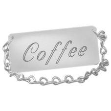 "Cal-Mil 276-1-010 Silver ""Coffee"" Spigot Chain Tag"