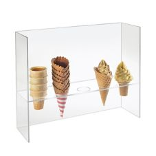 Cal-Mil 394 Clear Acrylic Cone Holder with Guard
