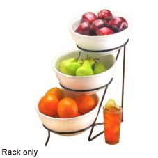 "Cal-Mil® C1222-8 Black Wire Rings 3 Tier 18"" Rack"