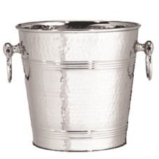 TableCraft 5198 7 Qt. Stainless Steel Wine Bucket with Hammered Finish