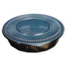 Genpak® FP048 Black Microwave Safe 48 Oz. Bowl - 300 / CS