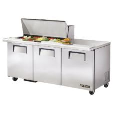True TSSU-72-18M-B S/S 19 Cu Ft 18-Pan Top Sandwich / Salad Unit