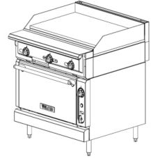 "Vulcan Hart VGMT36S V Series HD 36"" Griddle-Top Gas Range"