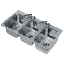 "Advance Tabco DI-3-10 10"" x 14"" x 10"" 3 Compartment Drop-In Sink"