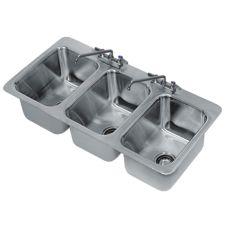 """Advance Tabco DI-3-10 S/S 38 x 19 x 10"""" Three Compartment Sink"""
