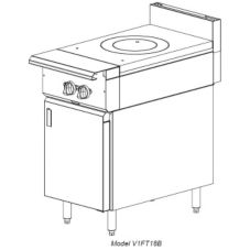 "Vulcan Hart V1FT18 V Series HD 18"" Gas Range with Modular Base"