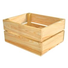 Crate Farm OC-1209-RW Peck Raw Wood Orchard Crate