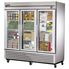 True® Reach-In Glass Swing Door 72 Cu Ft Freezer