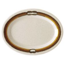 "G.E.T. OP-120-RD Diamond Rodeo Oval 12 x 9"" Platter - 12 / CS"