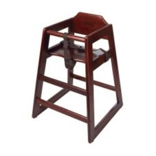 G.E.T.® HC-100M-2 Mahogany Finish Wooden Stackable Hi-Chair