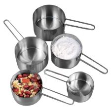 American Metalcraft MCW4 4 Piece S/S Measuring Cup Set