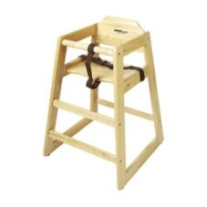 G.E.T.® HC-100-N-2 Natural Finish Wooden Stackable Hi-Chair