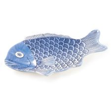 "G.E.T. 370-16-BL Let's Party™ Blue 16"" Fish Platter - Dozen"