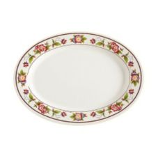 G.E.T. M-4010-TR Tea Rose 16 x 12 In. Oval Melamine Platter - 12 / CS