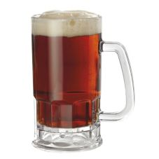 G.E.T.® 00085-PC-CL Polycarbonate 20 Oz Beer Mug w/ Handle - Dozen