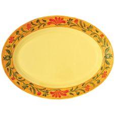 """G.E.T. OP-621-VN Venetian™ 21 x 15"""" Oval Melamine Platter"""