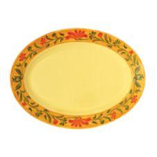 """G.E.T.® OP-618-VN Venetian 18 x 13-1/2"""" Oval Melamine Platter"""