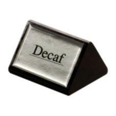 American Metalcraft SIGND4 Black Wood Decaf Sign w/ Silver Label
