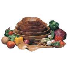 "American Metalcraft RWW6 6"" Round Woven Woodenware Bowl - 6 / CS0"