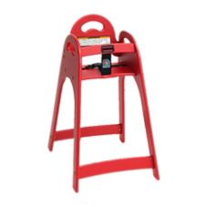Koala Kare KB105-03 Designer Red High Chair with Rounded Top / Sides