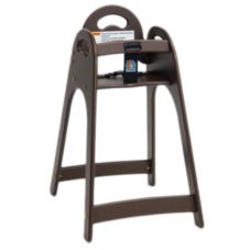 Koala Kare Designer Brown High Chair w/ Rounded Top & Sides