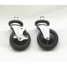 "Advance Tabco (4) 5"" Rubber Swivel Stem Casters, EC-25"