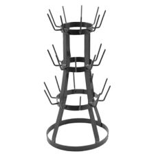 "Dover European Metalworks Steel 13"" Diameter Petite Bottle Rack"