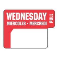 "DayDots 10136-03-31 1"" x 3/4"" Trilingual Wednesday Label - 1000 / RL"