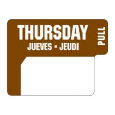 "DayDots 10136-04-31 1"" x 3/4"" Trilingual Thursday Label - 1000 / RL"