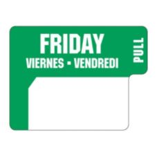 "DayDots 10136-05-31 1"" x 3/4"" Trilingual Friday Label - 1000 / RL"