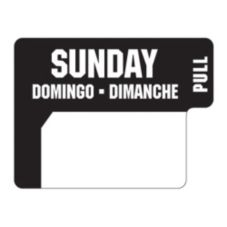 "DayDots 10136-07-31 1"" x 3/4"" Trilingual Sunday Label - 1000 / RL"