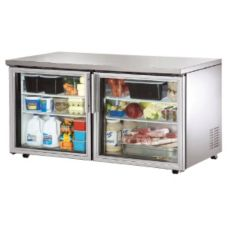 True TUC-60G-LP 15.5 CF Undercounter Refrigerator With Glass Door