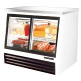 True® 4-Sliding Door Low-Height 17 Cu Ft Pass-Thru Deli Case