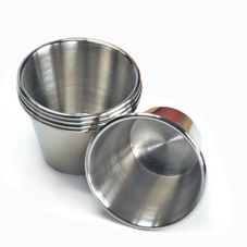 Clipper Mill 4-84111 Brushed Stainless 4 Oz. Ramekin / Condiment Cup