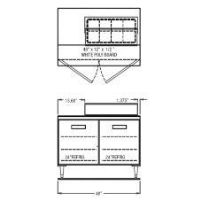 "Randell® 9303-7 Refrigerated 48"" Long Salad Top Prep Table"