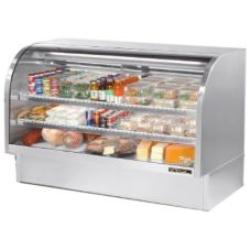 True® TCGG-72-S S/S 37.1 Cu Ft Curved Glass Refrigerated Deli Case