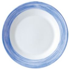 Cardinal Arcoroc Brush Opal® 23 Oz Soup Bowl with Blue Rim