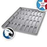 Chicago Metallic Bakeware Glazed Hot Dog  Bun Pan / Cluster of 32