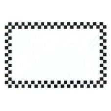 "Style P Black Check Write-On / Wipe-Off Tag, 2"" x 3"""