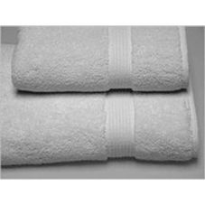 "Inn Style 241148 Dundee White 12"" x 12"" Terry Wash Cloth - Dozen"