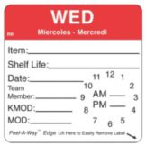 "DayMark 1136683 ReMark 2-1/2"" Wednesday Label With Clock - 500 / RL"
